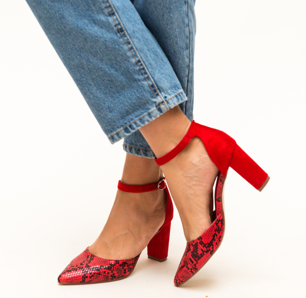 Pantofi Cupra Rosii